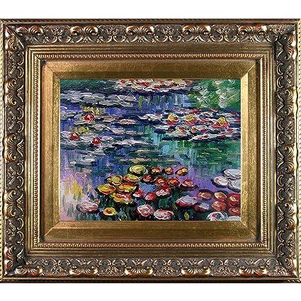 Amazon.com: overstockArt Monet Water Lilies Artwork with Baroque ...