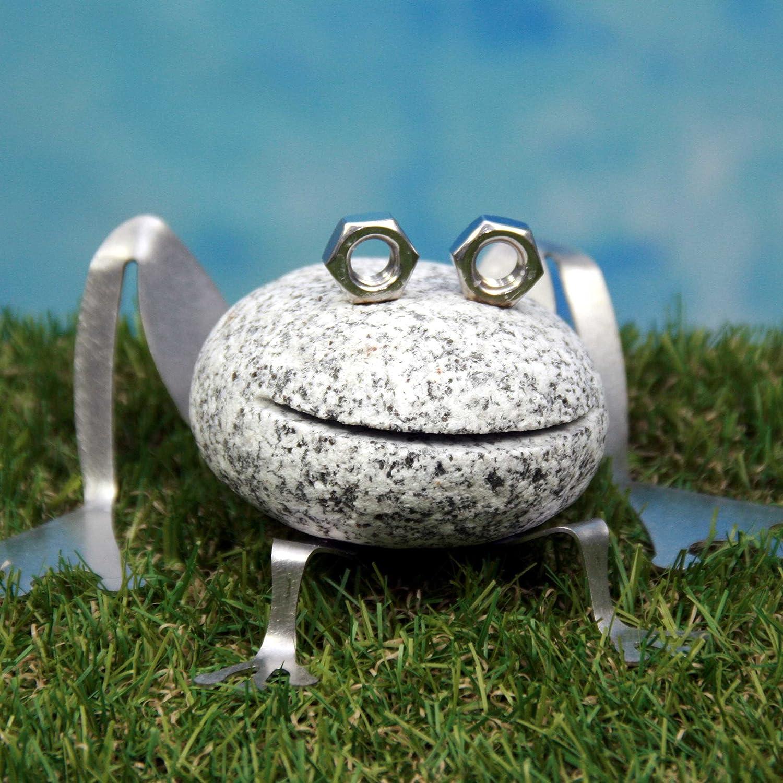 Neu Frosch aus Granit und Edelstahl