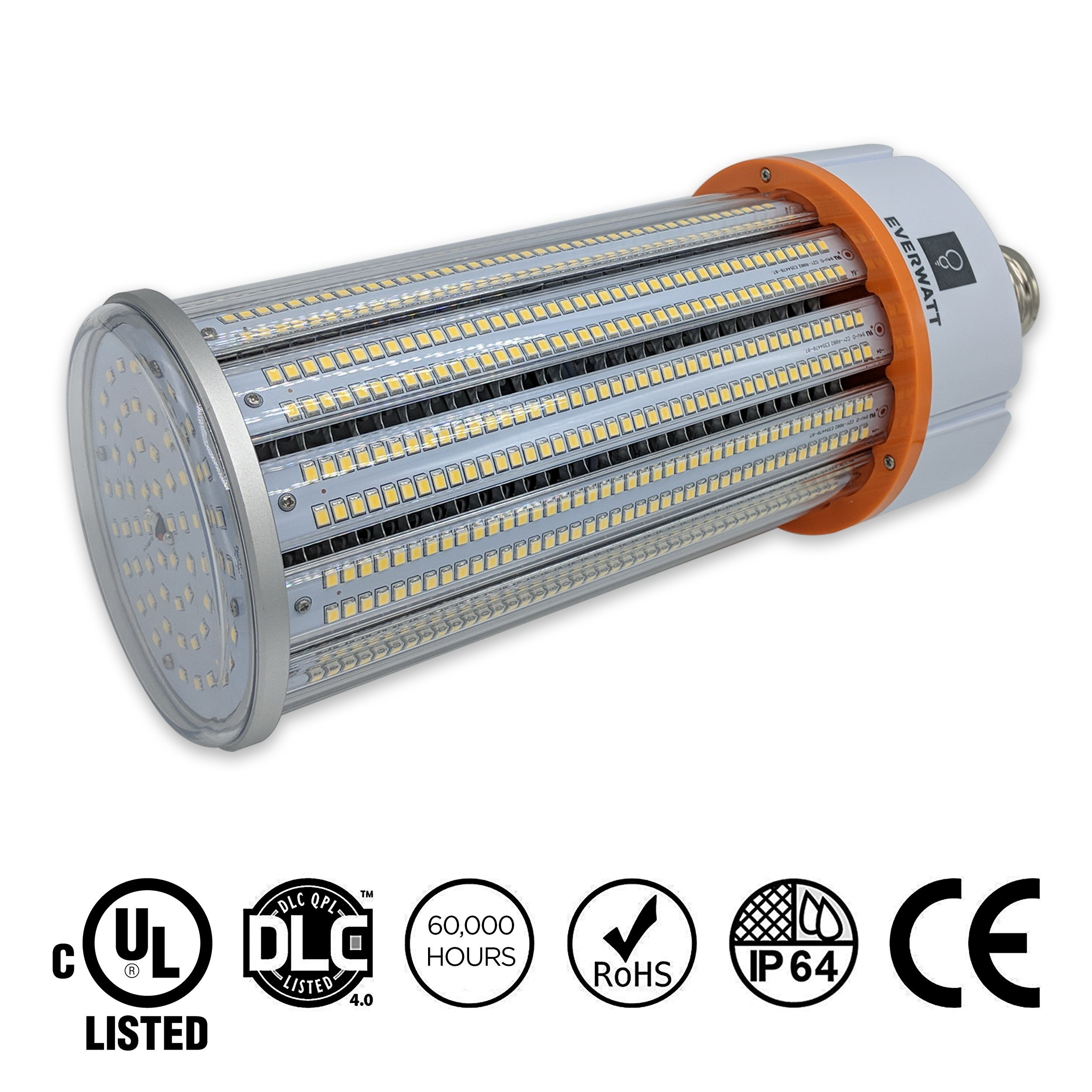 150W LED Corn Light Bulb, Large Mogul E39 Base, 21892 Lumens, 5000K, IP64 Waterproof Outdoor Indoor Area Lighting, Replacement for Metal Halide HID, CFL, HPS by EverWatt