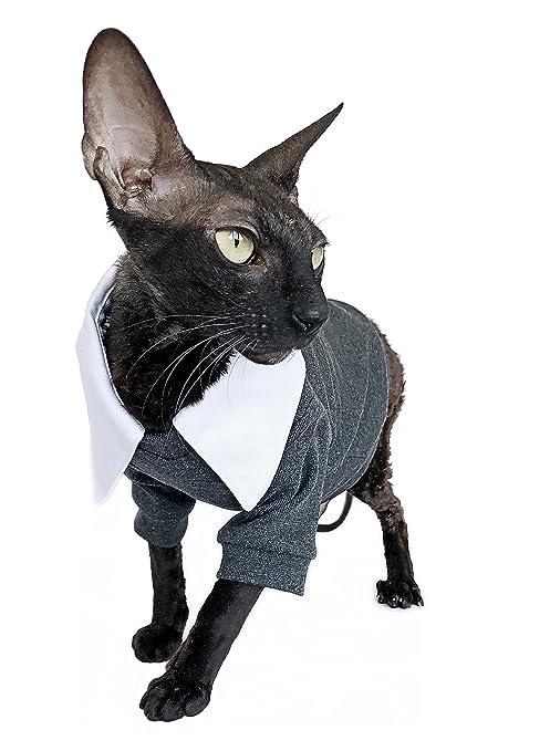 Kotomoda Ropa para Gatos Traje de Gato Collar Blanco (XL ...