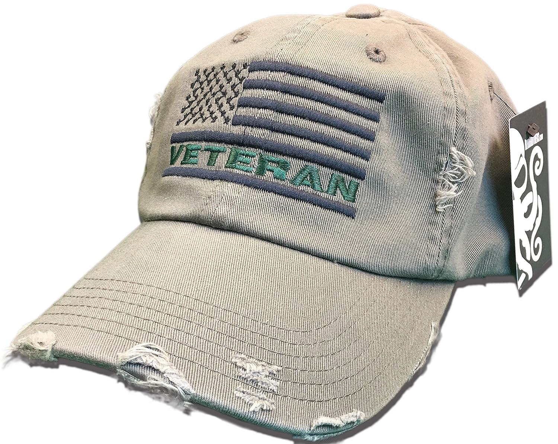 Amazon.com  Veteran American Flag Hat Olive Green USA OIF Vietnam combat olive  drab distressed cap  Clothing 53b31f6d88b