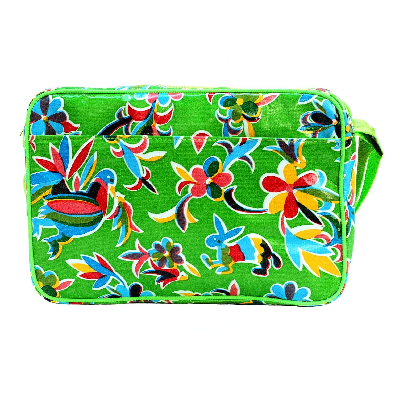 Small Shoulder Waterproof Bag for Women Messenger Bag Handbag with Vintage Pattern Crossbody IKURI Multi-Functional Bag Design Oaxaca in Green