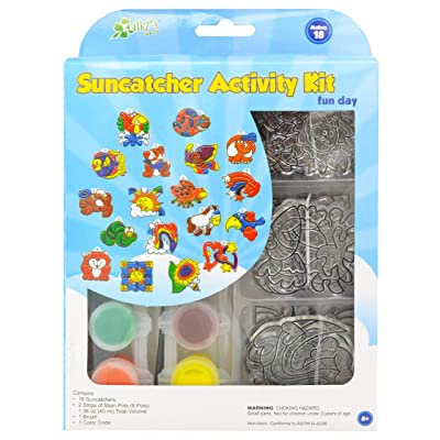 New Image Group SGP-08 Suncatcher Group Activity Kit, Fun Animal, 18-Pack: Arts, Crafts & Sewing