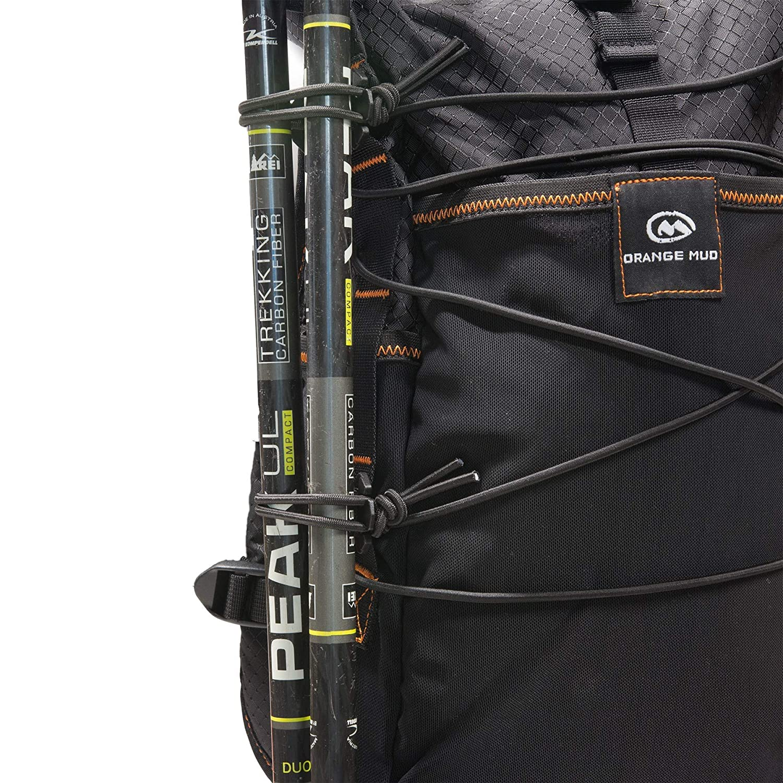M オレンジ マッドアドベンチャーパック 12L B013JILFJ4 Black with Trekking Pole Upgrade