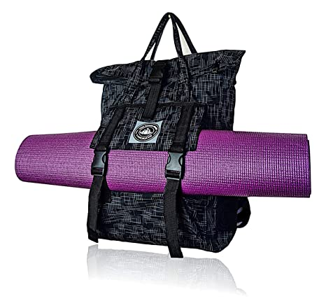 f0863124892 Amazon.com : LUCKAYA Stylish Lightweight Waterproof Multipurpose Yoga Mat  Bag/Backpack with Laptop Compartment for Gym, Yoga Class, Office and School.