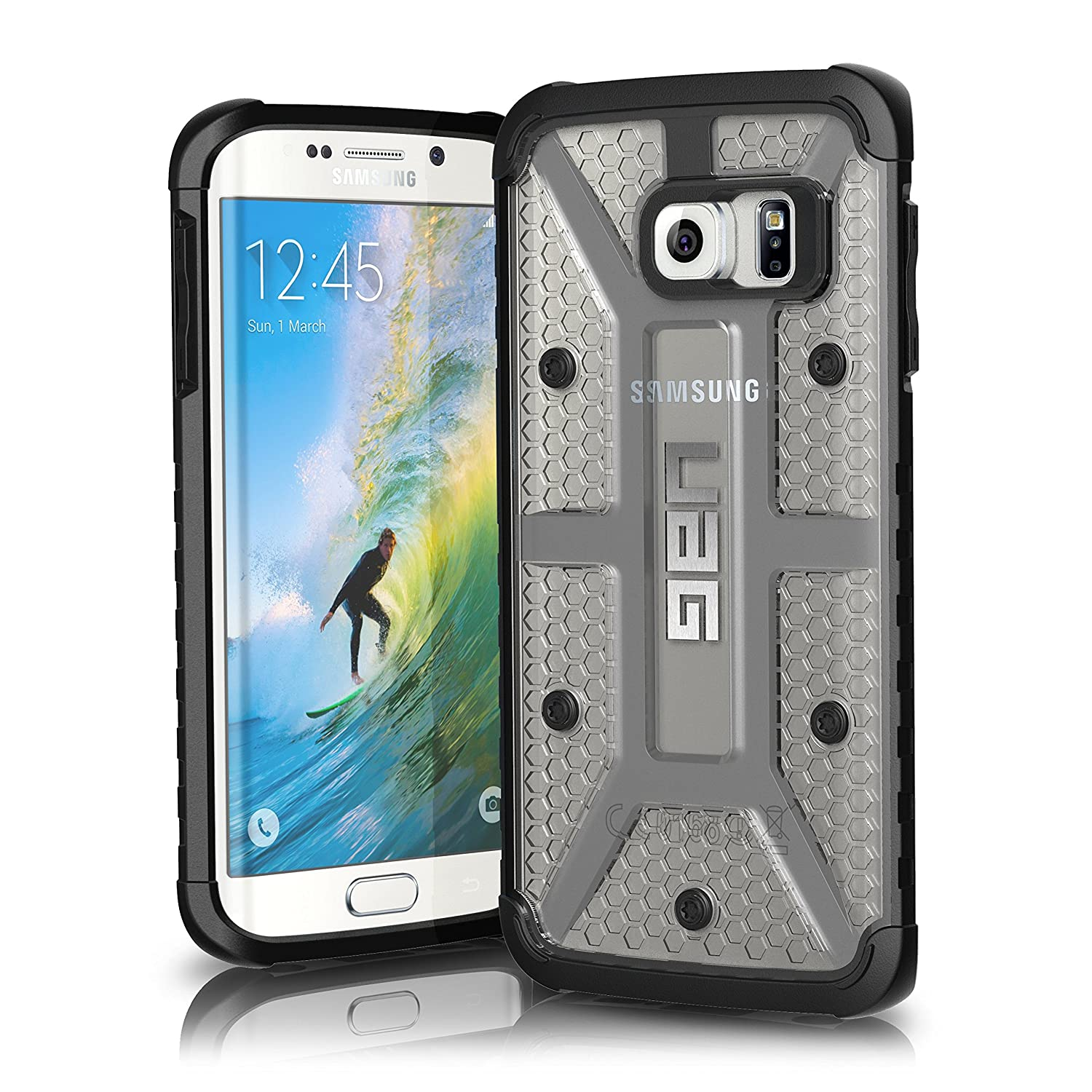 Galaxy s6 cases shop samsung cases online uag urban armor gear - Amazon Com Uag Samsung Galaxy S6 Edge 5 1 Inch Screen Feather Light Composite Ice Military Drop Tested Phone Case Cell Phones Accessories