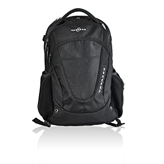 Obersee Oslo Diaper Bag Backpack, Black