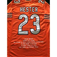 $169 » Devin Hester Signed Autographed Orange Stat Football Jersey with JSA Certificate of Authenticity