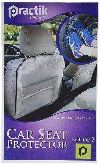 Amazon.com : PRACTIK Plastic Kick Mats/Car Auto Seat Back ...