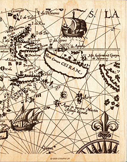 Amazon stampin up old world map wood mounted rubber stamp x stampin up old world map wood mounted rubber stamp x lg background gumiabroncs Images