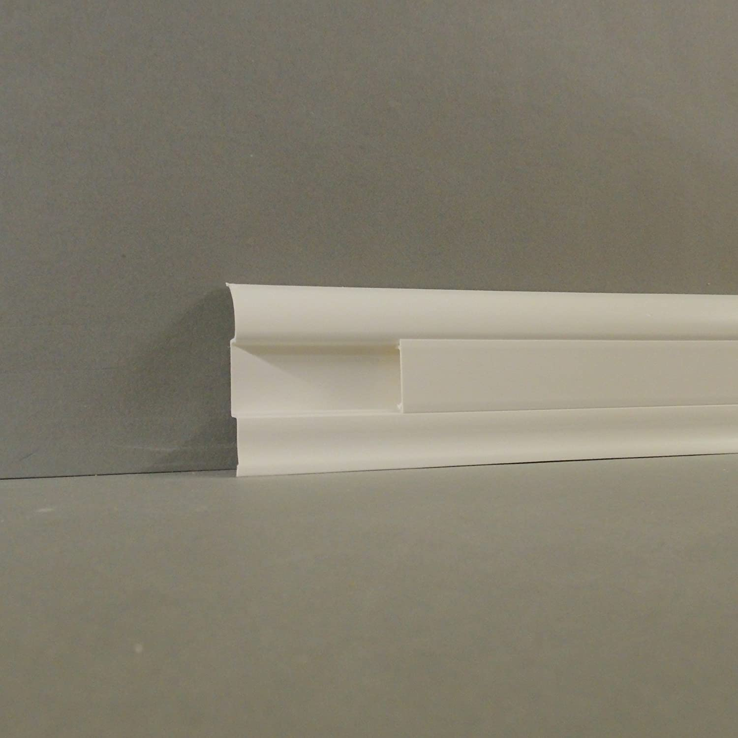 Marbet Skirting Board Arco Aus Pvc Plastic With Cable Duct In White Wiring Kitchen Home