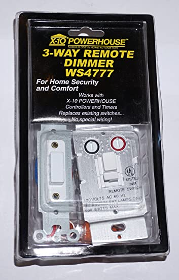 amazon com x10 ws4777 3 way remote dimmer switch camera photo rh amazon com X10 Remote Control Diagram X10 Home Automation