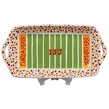 NCAA Florida State Seminoles (FSU) Ceramic Stadium Tray - Garnet/Gold