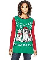 Ugly Christmas Sweater Women's Dogs Singing Faa Ra Raaa