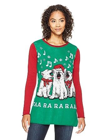 b7b9a74585a Amazon.com  Ugly Christmas Sweater Company Women s Dogs Singing FAA Ra  Raaa  Clothing