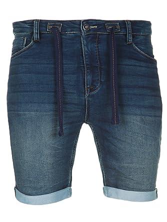 e2f7b0115cc9 Herren Jeans Kurze Hose Shorts Männer Denim Bermuda Chinoshorts Sweatpants  JoggJeans (W29, Dunkelblau M4