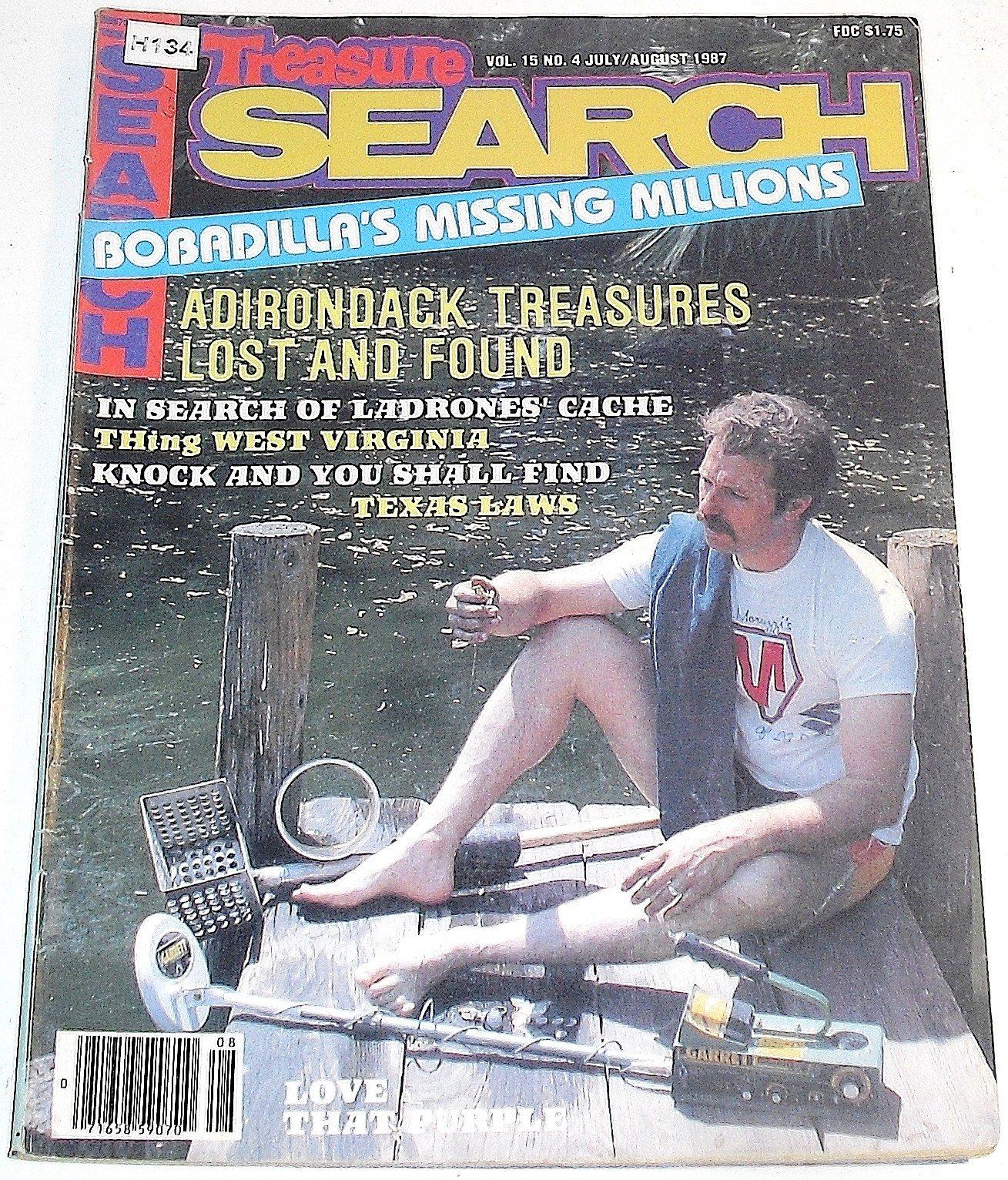 Treasure Search Magazine, July/August 1987 (Volume 15, No. 4) Single Issue Magazine – 1987