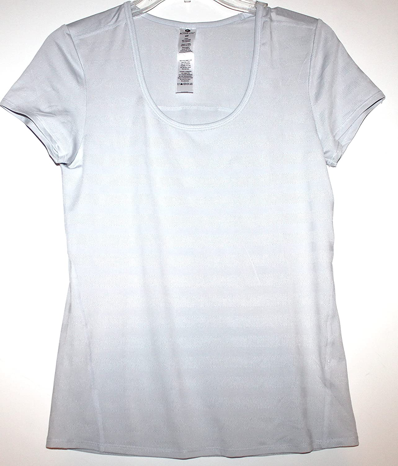 Active Life Women's Scooped Neck Training T Top with Tonal Stripes