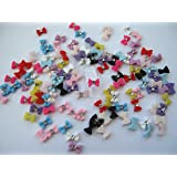 Nail Art 3d 120 Resin Mix Small Bows/Rhinestone for Nails, Cellphones .8cm