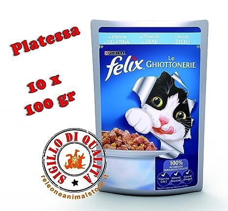 Felix Le ghiottonerie mojado Alimento completo para gato platessa 10 x 100gr