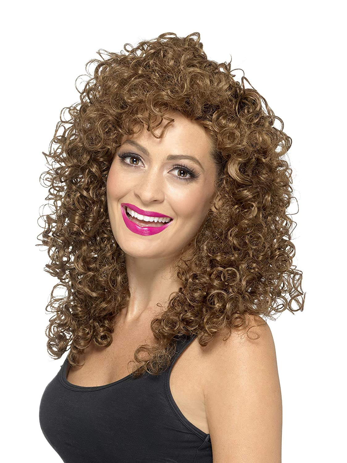 Smiffy's Women's Boogie Babe Wig Long Curly One Size 42064 RH Smith & Sons LTD