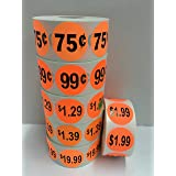 1000 Labels 1.5 Round Yellow 69 Cent Pricing Price Point Retail Stickers 1 Roll