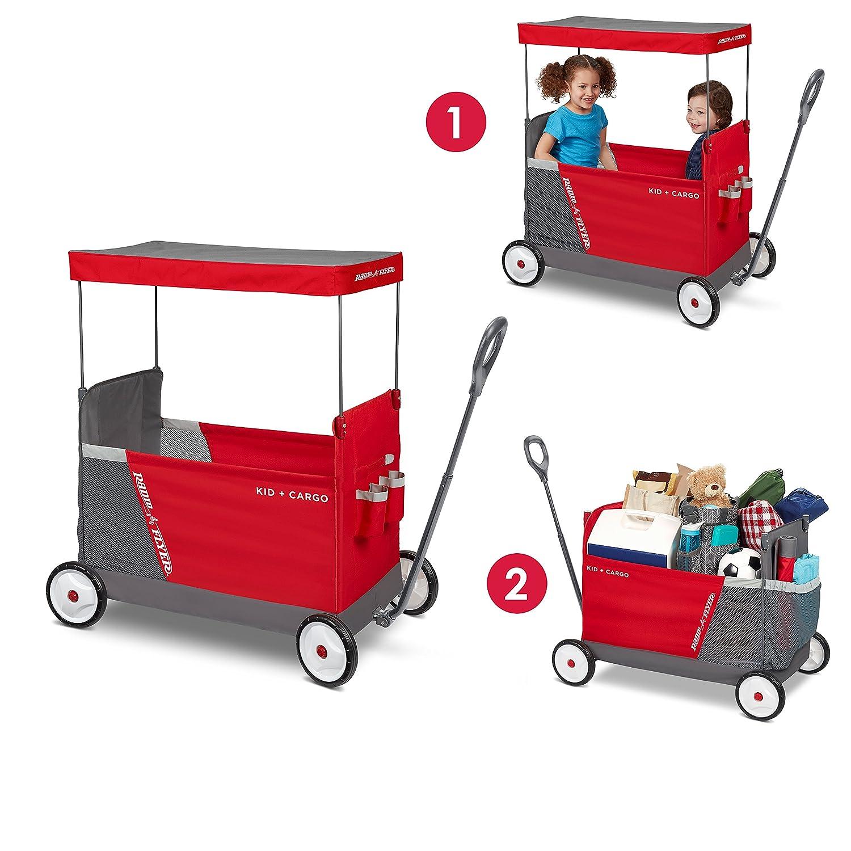 Radio Flyer Kid & Cargo with Canopy, Folding Wagon2