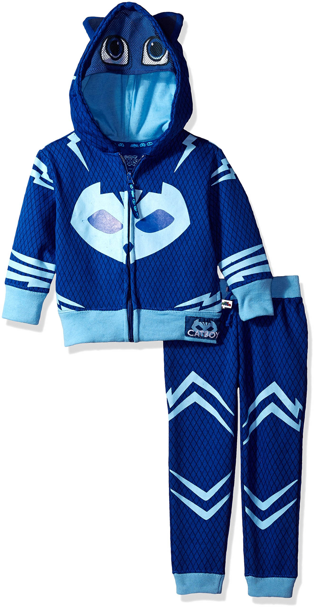 PJMASKS Little Boys' Catboy Hoodie and Jogger Set, Blue, 4