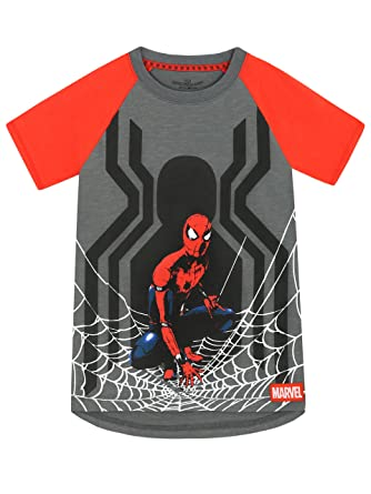 cd43169c Amazon.com: Spiderman Spider-Man Boys T-Shirt: Clothing