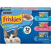 Purina Friskies Ocean Delights Cat Food Variety Pack 12-156 g Cans