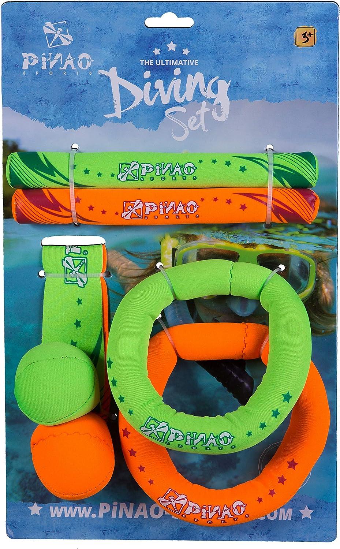 Tauchset aus Neopren 56001 Tauchringe, Diving Set, Tauchartikel, Tauchball, Gewichte,Tauch/übungen PiNAO Sports