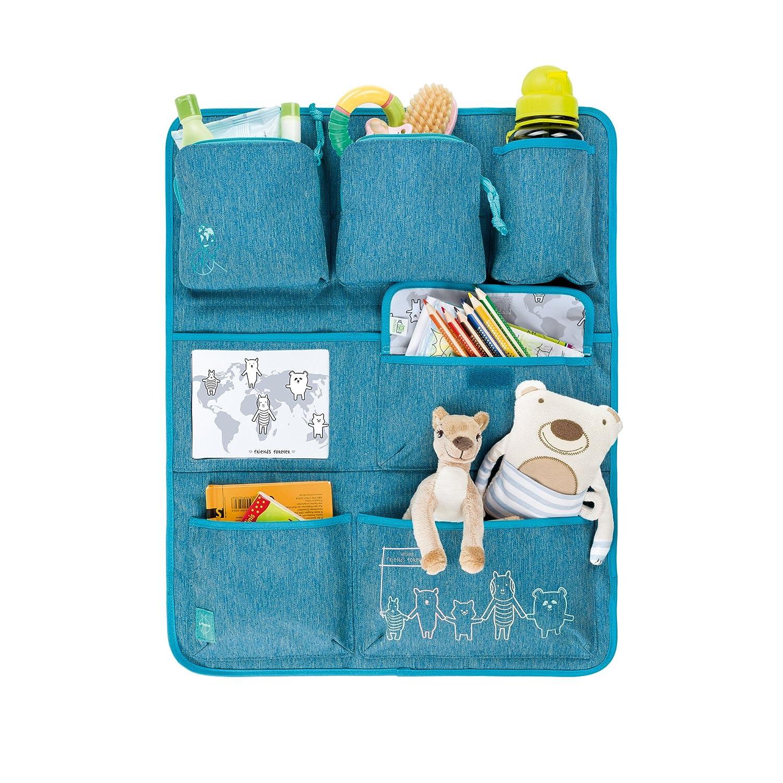 Lassig Kids Car Organizer Wrap-to-Go About Friends m/élange Blue