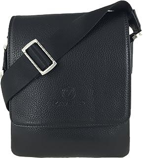 bcf0a52a65 Amazon.com  LAORENTOU Mens Genuine Leather Shoulder Bag Crossbody ...