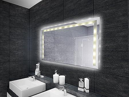 Specchio Bagno 80 X 70.Led Di Specchio Specchio Bagno Illuminato In Diverse Versioni 80