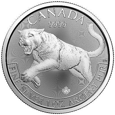 """'Canada Predators 2016""""Cougar 5Dollars 1oz (31,1Gr.) Argent 999Silver Coin Monnaie"""