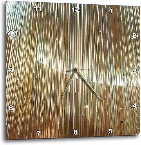 3dRose dpp_28341_3 Modern Tubes Wall Clock, 15 by 15-Inch