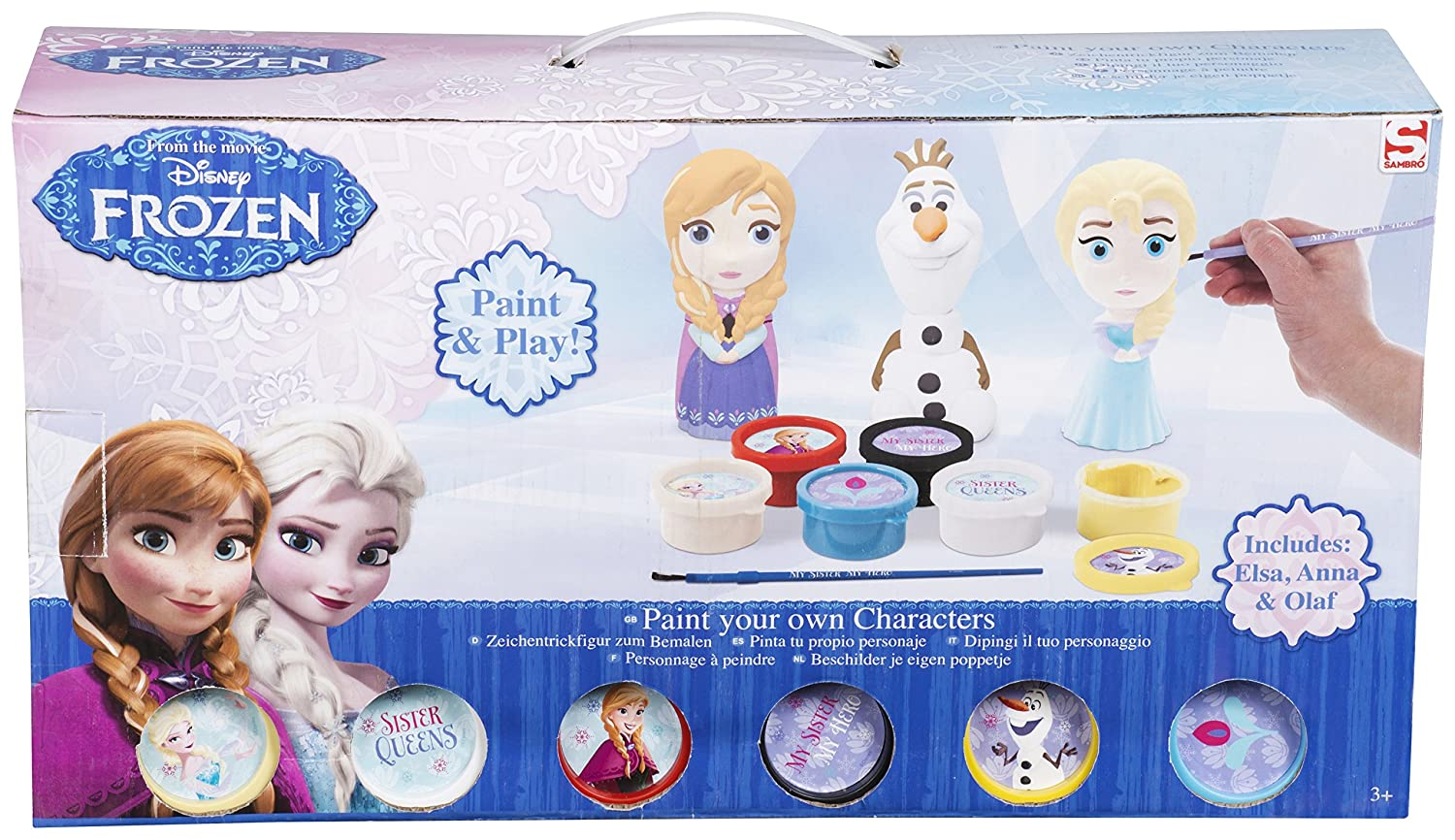 Amazon.com: Sambro Frozen Paint Your Own Figure (Pack of 3): Toys & Games