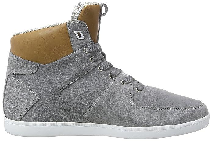 Camberwell Inc Sde / Lea Grif Gry / Tan, Chaussures De Sport Mens Salut-top Boxfresh