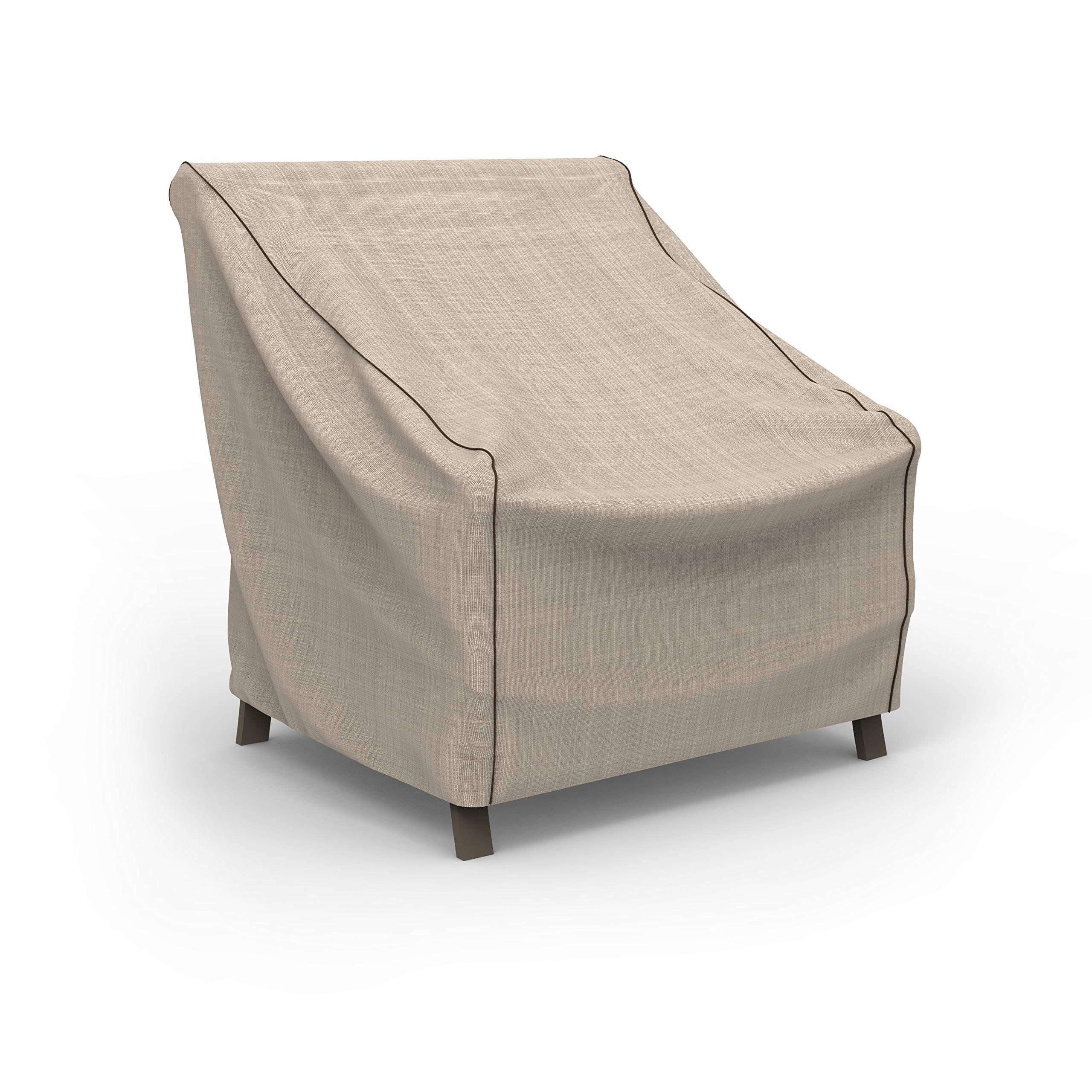 EmpirePatio Tan Tweed Patio Chair Cover, Medium