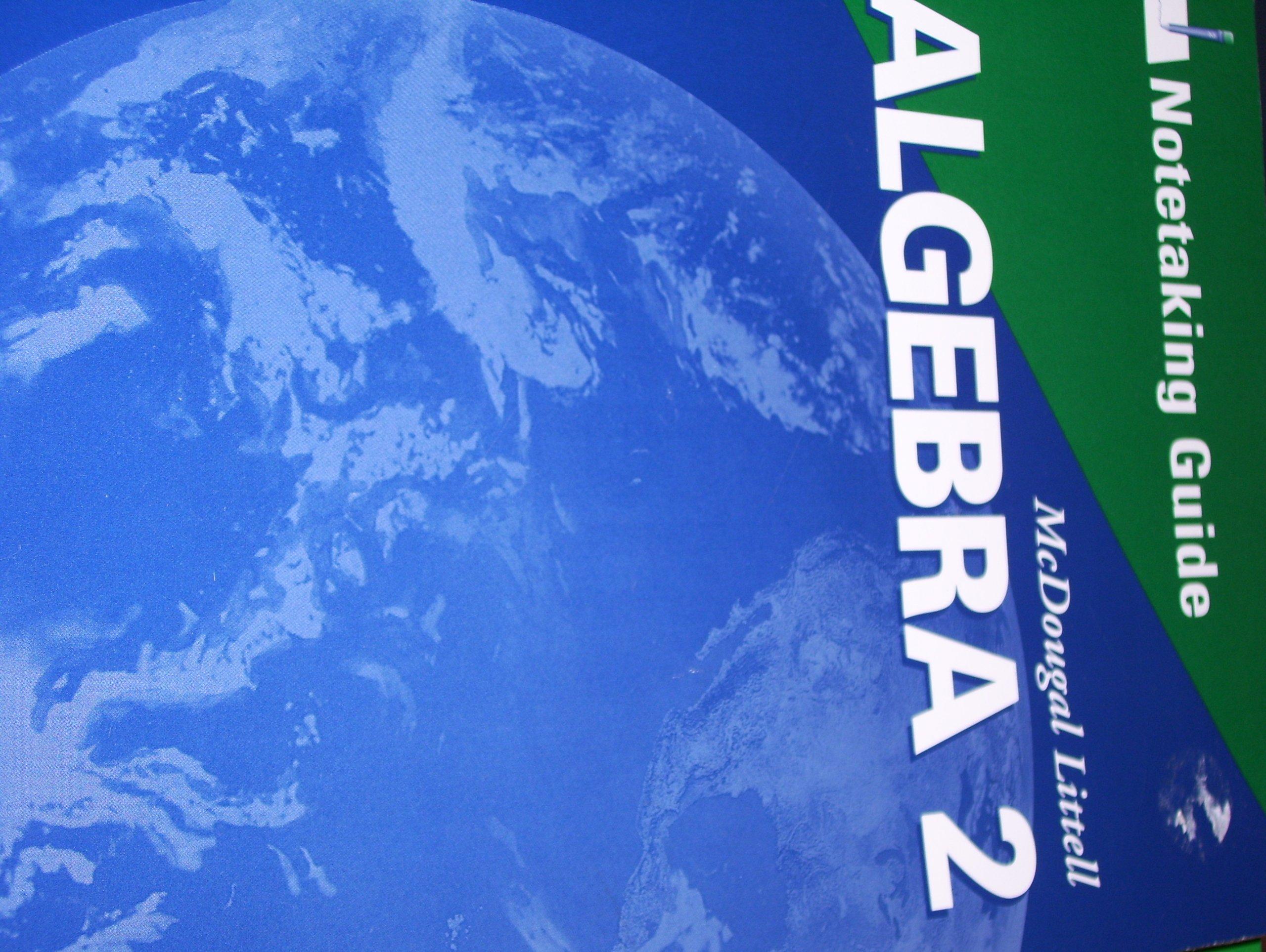 Amazon Mcdougal Littell Algebra 2 Notetaking Guide Student