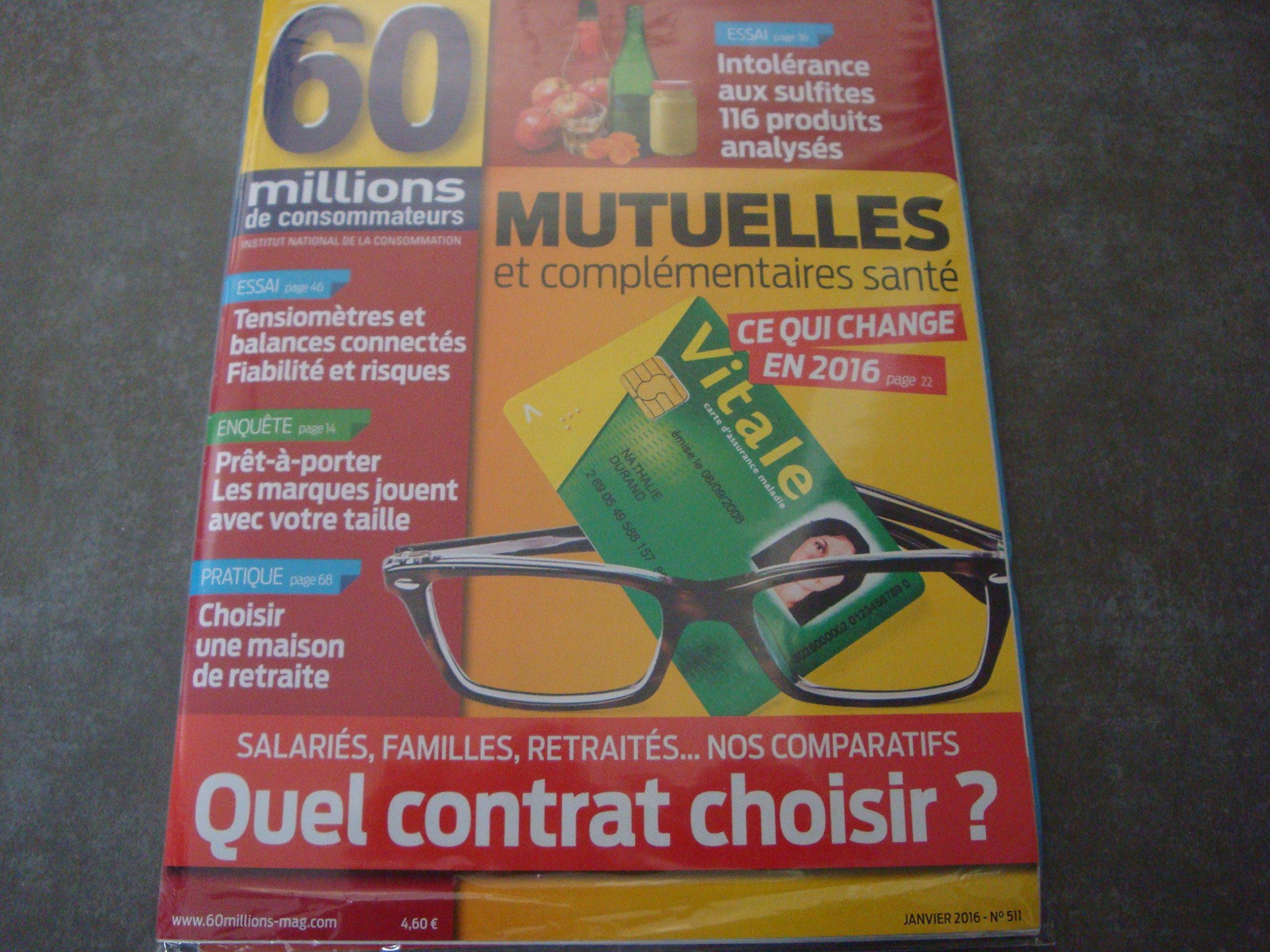 Amazon.fr - 60 MILLIONS DE CONSOMMATEURS N°511 !!