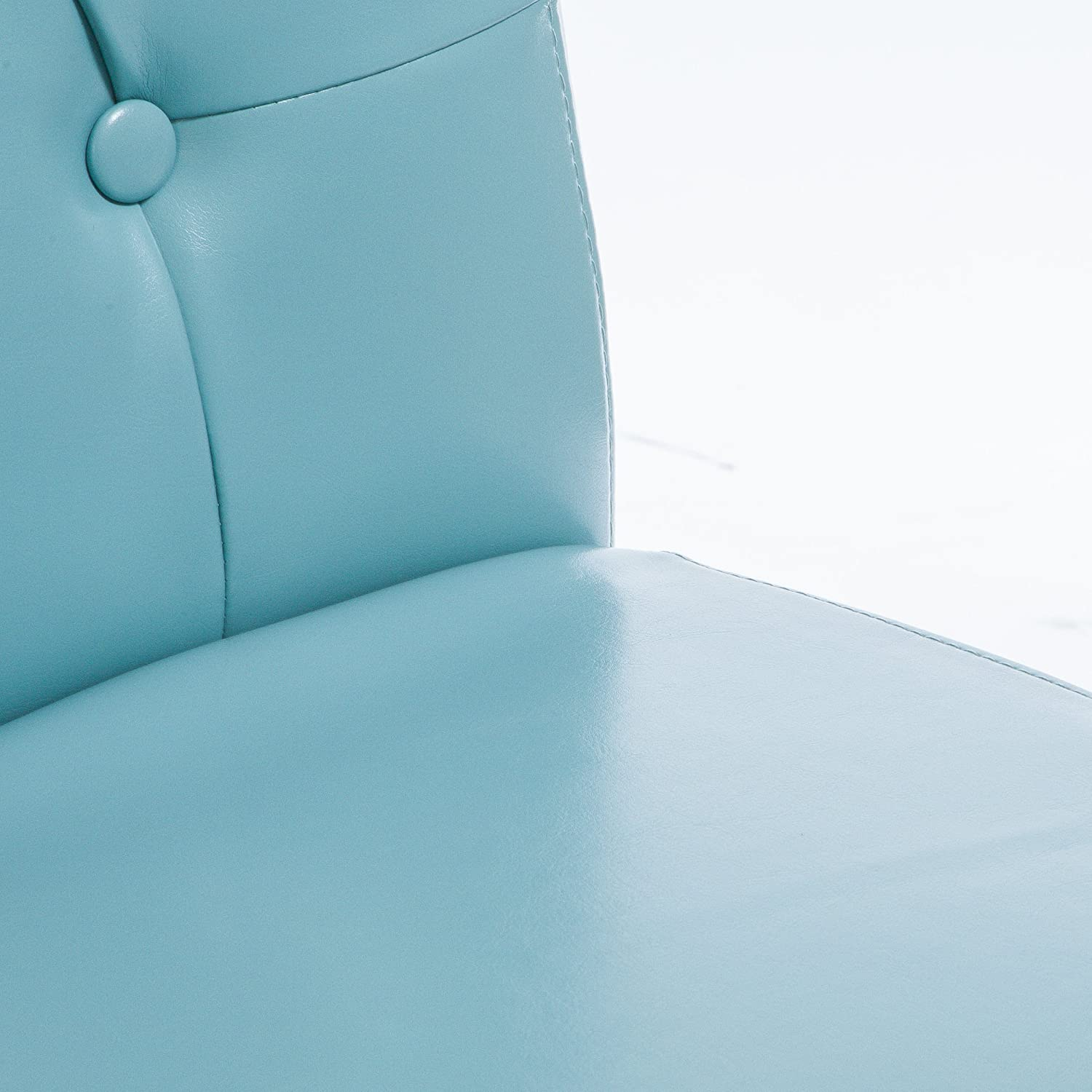 Amazon.com: Alexander Teal Bonded Leather Dining Chair (Set Of 2): Kitchen  U0026 Dining