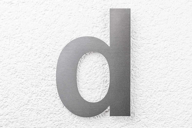 SEM Hausnummer 8 Edelstahl fein geb/ürstet 16cm 160mm modern