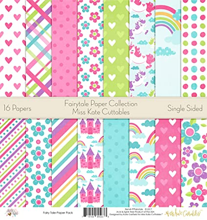 Amazon Fairytale Printed Scrapbook Paper Set By Miss Kate