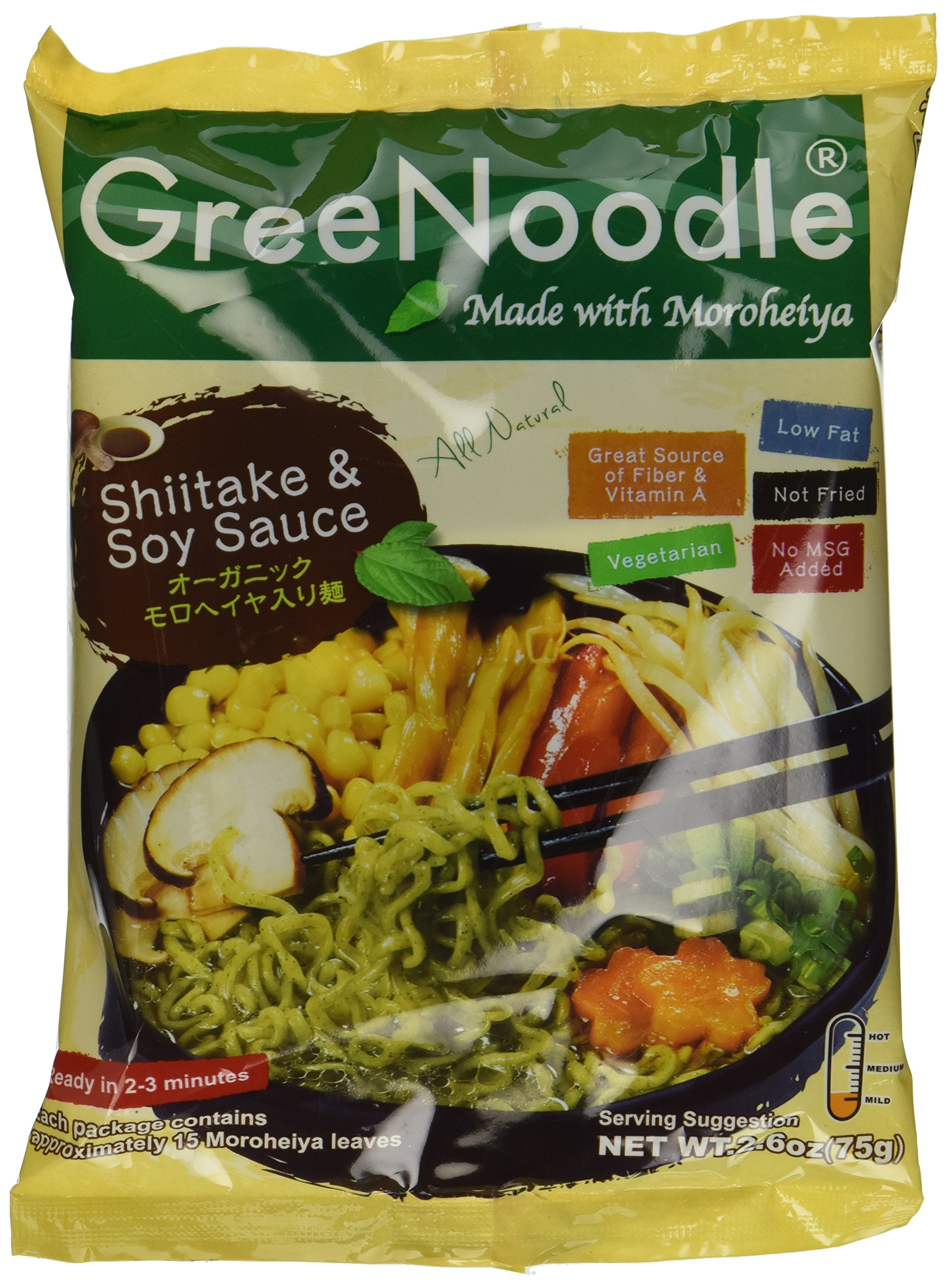 GreeNoodle with Shiitake Soy Sauce Soup (12 count) by GreeNoodle