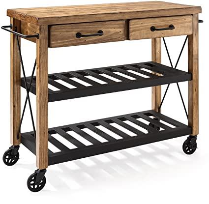 amazon com crosley furniture roots rack industrial rolling kitchen