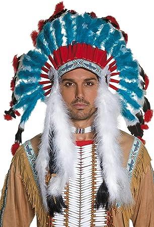 Smiffys - Peluca de indio del oeste para hombre, talla única ...