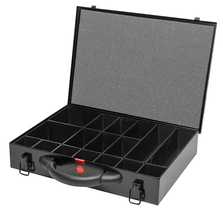 Caja clasificadora de tamañ o mediano 63 mm, color negro Sorta-Case Ltd SBB.MS.63.17