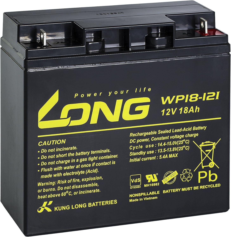 Long bater/ía de plomo wp18/ /12I 12/V 18/Ah con VDS