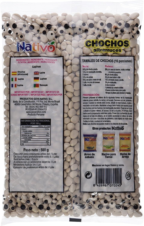 Nativo Chochos Altramuces - 6 Paquetes de 500 gr - Total: 3000 gr